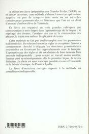 Latin Grands Debutants Methode Cours En 30 Lecons - 4ème de couverture - Format classique