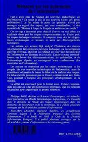 Menaces Sur Les Autoroutes De L'Information - 4ème de couverture - Format classique
