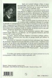 De La Rue D'Ulm Au Chemin Des Dames ; Histoire D'Un Fils ; Trajectoire D'Un Homme 1902-1918 - 4ème de couverture - Format classique