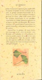 Le ginkgo biloba - 4ème de couverture - Format classique