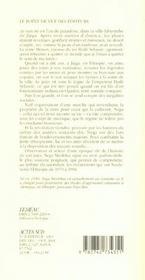 Notes Du Ventre De La Hyene - 4ème de couverture - Format classique