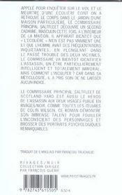 Meurtre D'Une Ecoliere - 4ème de couverture - Format classique
