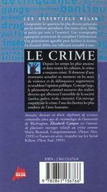 Crime (Le) - 4ème de couverture - Format classique