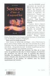 Sorcieres D'Hier Et D'Aujourd'Hui - 4ème de couverture - Format classique