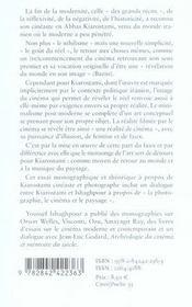 Kiarostami ; le réel, face et pile - 4ème de couverture - Format classique
