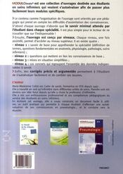 Pneumologie - 4ème de couverture - Format classique