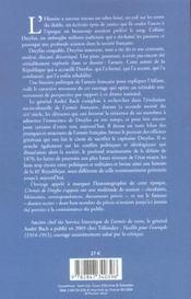 L Armee De Dreyfus Une Histoire Politique De L Armee Francaise De Charle X A L A - 4ème de couverture - Format classique