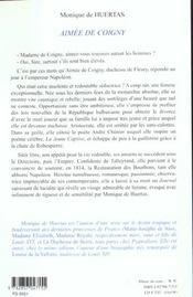 Aimee De Coigny - 4ème de couverture - Format classique