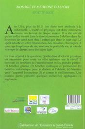 Sport Et Sante - 4ème de couverture - Format classique
