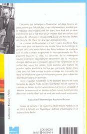Le Roman De Manhattan - 4ème de couverture - Format classique