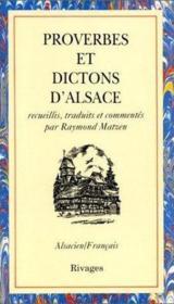 Proverbes et dictons d'Alsace - Couverture - Format classique