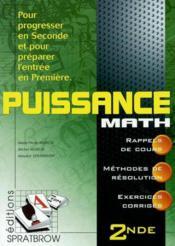 Puissance maths 2nde - Couverture - Format classique