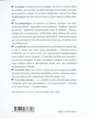 (Au Cafe Des) Nombres Le Sorcier Matheux Mise En Pieces De Theatre De Notions Mathematiques - 4ème de couverture - Format classique