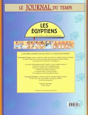 Les Egyptiens - 4ème de couverture - Format classique