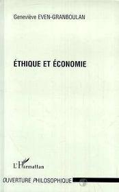 Ethique Et Economie - Intérieur - Format classique