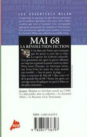 Mai 68 la revolution fiction - 4ème de couverture - Format classique