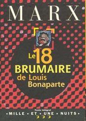 Le 18 Brumaire De Louis Bonaparte - Intérieur - Format classique
