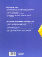 Santé publique ; médecine légale, médecine du travail - 4ème de couverture - Format classique