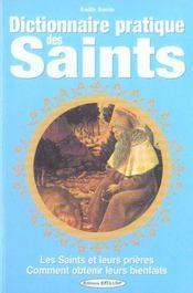 Dictionnaire pratique des saints - Intérieur - Format classique