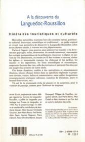 À la découverte du Languedoc-Roussillon - 4ème de couverture - Format classique