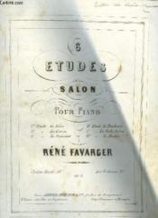 6 Etudes De Salon Pour Piano - N°2 : La Course. - Couverture - Format classique