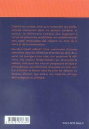 Dictionnaire de droit de la santé et de la biomédecine - 4ème de couverture - Format classique
