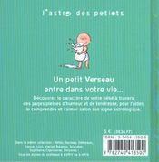 Verseau - 4ème de couverture - Format classique