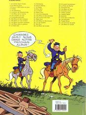 Les tuniques bleues t.21 ; les cinq salopards - 4ème de couverture - Format classique