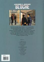 Jérôme K. Jérôme Bloche t.16 ; la lettre - 4ème de couverture - Format classique
