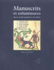Manuscrits Et Enluminures Dans Le Monde Normand (Xe-Xve Siecles) - Intérieur - Format classique