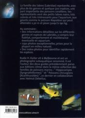 Labres et girelles ; labridés - 4ème de couverture - Format classique
