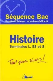 Histoire terminales l. es et s - Intérieur - Format classique