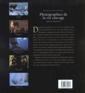 Photographies De La Vie Sauvage - 4ème de couverture - Format classique