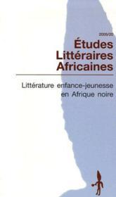 Litterature enfance-jeunesse en Afrique noire - Couverture - Format classique