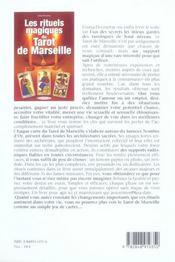 Rituels Magiques Du Tarot De Marseille (Les) - 4ème de couverture - Format classique