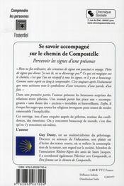Se savoir accompagner sur le chemin de Compostelle - 4ème de couverture - Format classique