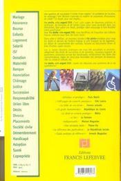 Memento Pratique ; Vos Droits, Votre Argent (édition 2006) - 4ème de couverture - Format classique