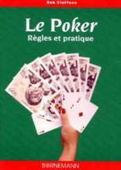 Le Poker ; Regles Et Pratique - Couverture - Format classique