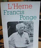 Francis Ponge - Couverture - Format classique