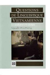 Questions de linguistique vietnamienne ; les classificateurs et les deictiques. - Intérieur - Format classique