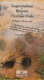 Tergiversations et rêveries de l'écriture orale, 1998 - Couverture - Format classique