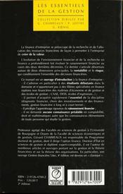 Finance D'Entreprise. - 4ème de couverture - Format classique