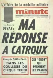 Minute N°176 du 13/08/1965 - Couverture - Format classique
