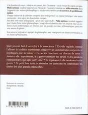 La Conscience L'Inconscient Le Desir Les Passions - 4ème de couverture - Format classique