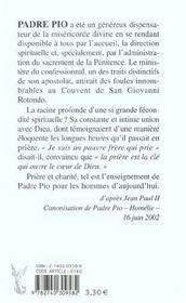 Histoire Du Padre Pio - 4ème de couverture - Format classique