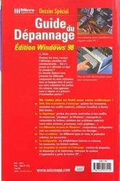 Dossier sp guide depann w98-k1 - 4ème de couverture - Format classique