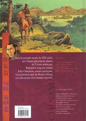 Chinaman t.1 ; la montagne d'or - 4ème de couverture - Format classique