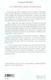 Romy Schneider - 4ème de couverture - Format classique