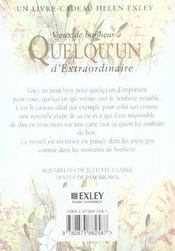 Voeux De Bonheur A Quelqu'Un Extraordinaire Nlle Edition - 4ème de couverture - Format classique