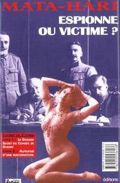 Mata hari - espionne ou victime ? (coffret 2 vol.) - 4ème de couverture - Format classique